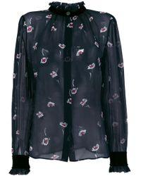 Armani Jeans - Floral Print Blouse - Lyst