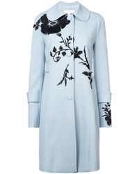 Carolina Herrera - Flower Detail Single-breasted Coat - Lyst