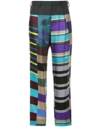 Kolor   High-waisted Stripe Trousers   Lyst