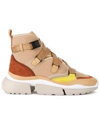 Chloé - Sonnie Hi-top Trainers - Lyst