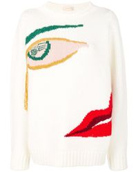 Wunderkind - Knitted Face Jumper - Lyst