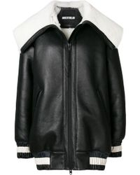 House of Holland - Shearling Varsity Jacket - Lyst