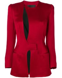 Haider Ackermann - Cut Out Detail Fitted Blazer - Lyst