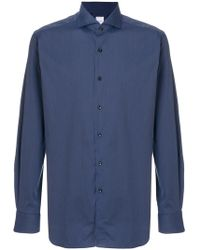 Xacus - Spread Collar Long Sleeve Shirt - Lyst