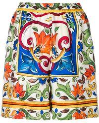 Dolce & Gabbana - Majolica Print Shorts - Lyst