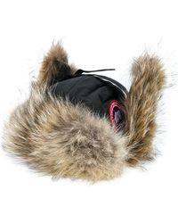 Canada Goose - Coyote Fur Trim Aviator Hat - Lyst