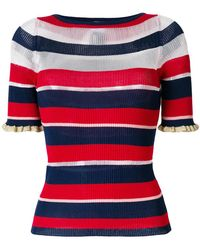 Pinko - Striped Knitted Top - Lyst