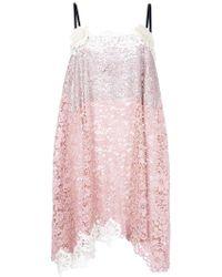 Fausto Puglisi - Asymmetric Lace Dress - Lyst