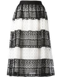 Alice + Olivia - Birdie Monochrome Guipure Lace Skirt - Size 8 - Lyst