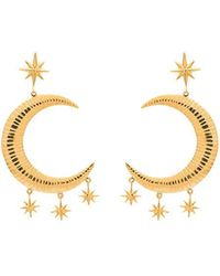 Freya gold-plated single earring Marte Frisnes XwfS9