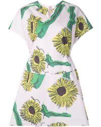 Julien David - Sunflower Print Day Dress - Lyst