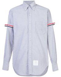 Thom Browne - Grosgrain Armband Oxford Shirt - Lyst