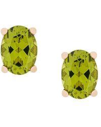 Delfina Delettrez - 18kt Champagne Gold Dots Solitaire Peridot Stud Earrings - Lyst