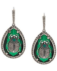 Alexander McQueen - Teardrop Crystal Scarab Earrings - Lyst