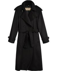 Burberry - Cashmere Classic Trench Coat - Lyst