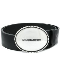 DSquared² - Embossed Buckle Belt - Lyst