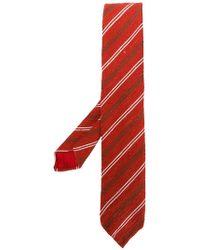 Lardini - Striped Textured Tie - Lyst