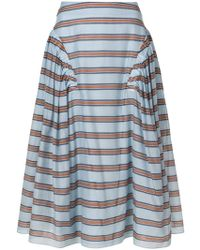 Fendi - Striped Flared Skirt - Lyst