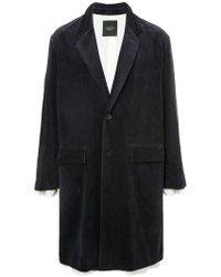 Unused - Corduroy Overcoat - Lyst