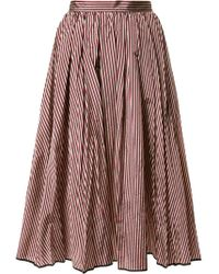 TOME - Flared Stripe Skirt - Lyst