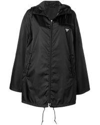 Prada - Zipped Up Raincoat - Lyst