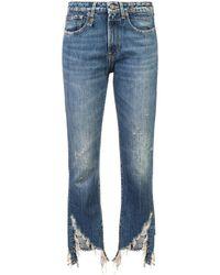 R13 - Kelly Frayed Hem Jeans - Lyst