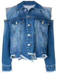 SJYP - Destroyed Denim Jacket - Lyst