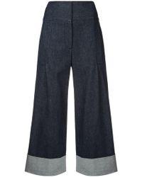 Carolina Herrera - Cropped Wide Trousers - Lyst