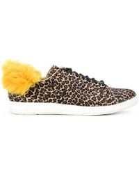 PS by Paul Smith - Faux Fur Trim Trainers - Lyst