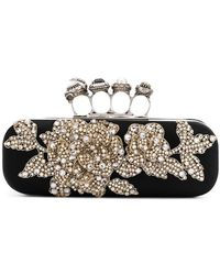 Alexander McQueen - Embroidered Knuckleduster Clutch - Lyst