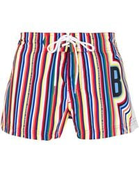 Dirk Bikkembergs - Striped Swim Shorts - Lyst