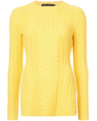 Sally Lapointe   Cable-knit Jumper   Lyst