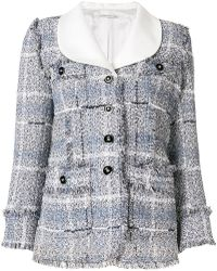 Alessandra Rich - Embroidered Fitted Jacket - Lyst