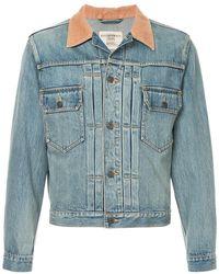 f4554140d76 Kent   Curwen - Contrast Collar Denim Jacket - Lyst