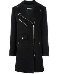 Jeremy Scott - Off-centre Zipped Coat - Lyst