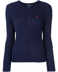 Ralph Lauren - Cable Knit Jumper - Lyst