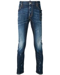 DSquared² - Faded Slim-fit Jeans - Lyst