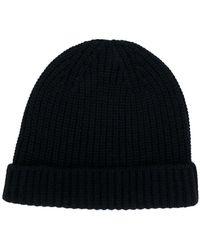 Cruciani - Classic Knitted Beanie Hat - Lyst