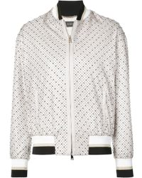 Versace - Micro Studded Bomber Jacket - Lyst