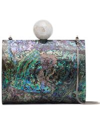 Nathalie Trad - Multicoloured Lilly Shell Clutch With Pearl - Lyst