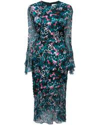 Prabal Gurung - Floral Ruffle Sleeve Dress - Lyst