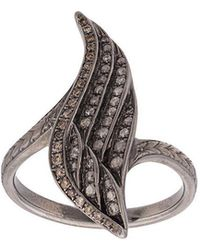 Loree Rodkin - 18kt Diamond Wing Ring - Lyst