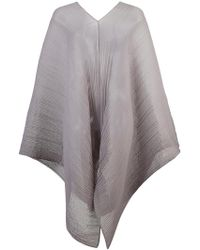 Pleats Please Issey Miyake - Pleated Poncho - Lyst