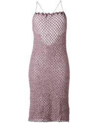Vivienne Westwood Red Label - Crisscross Strap Knit Dress - Lyst