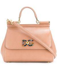 31dbb41883 Dolce   Gabbana Sicily Small Leather Shoulder Bag in Blue - Lyst