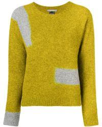 Suzusan - Contrast Knit Jumper - Lyst
