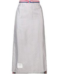Thom Browne Bemberg Ankle-length Slip Skirt - Gray