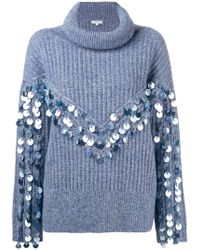 Manoush - Embellished Knitted Sweater - Lyst