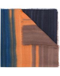Ermenegildo Zegna - Colour Blocked Scarf - Lyst
