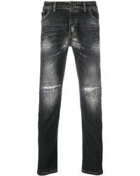 Frankie Morello - Distressed Slim Fit Jeans - Lyst